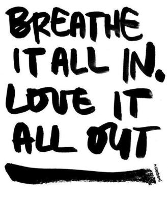 breathe in love out