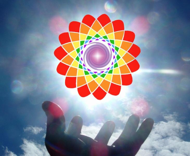 hand sun logo